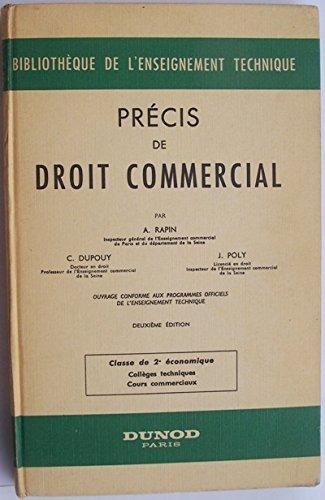 Précis de droit commercial