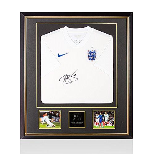 Framed-Dele-Alli-Signed-Autograph-England-Shirt-20142015-Home-Premium-Framed