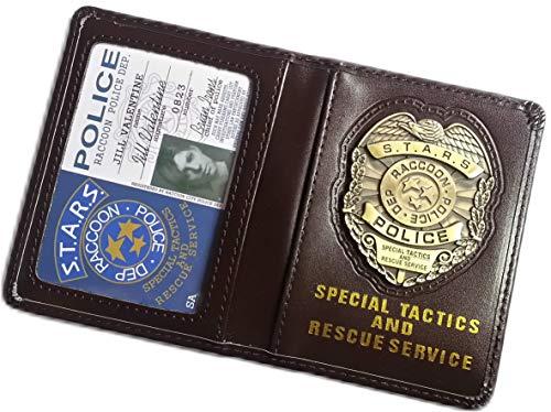 Valentine Jill Resident Kostüm Evil - Resident Evil Biohazard S.T.A.R.S RPD Jill Valentine Ausweis-& Kartenhüllen Brieftasche | Leon Chris Wesker Kostüm Cosplay