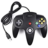 iNNEXT Retro 64-Bit Controller USB Gamepad N64 PC-Controller Joypad Joystick Für Windows Mac PC Raspberry Pi,Schwarz