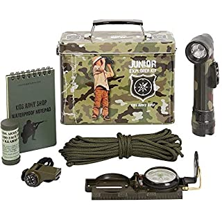 Absab Ltd KAS Childrens Army Junior Camouflage Explorer Kit Military Soldiers Kids Toy Gift
