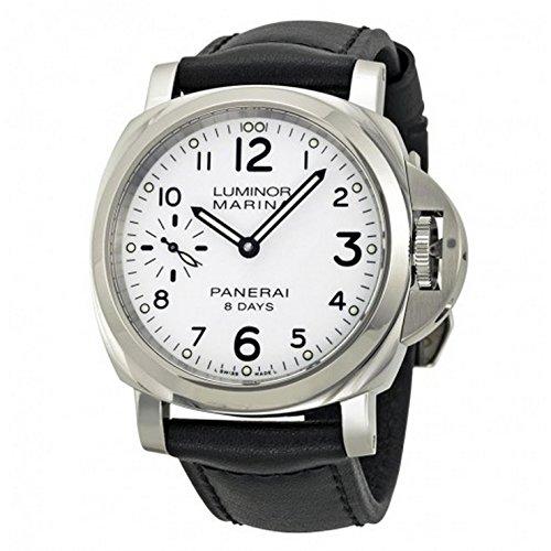 Panerai Luminor Hombre Reloj de pulsera 44mm Pulsera Piel Negro Gehà ¤ Use Acero Inoxidable Cuerda Manual Analog pam00563