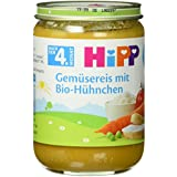 Hipp Gemüsereis mit Bio-Hühnchen, 6-er Pack (6 x 190 g) - Bio