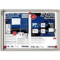 Franken FSA2 X-tra - Vitrina para 2 documentos A4 (puertas correderas, 51 x 37 x 3,5 cm), color blanco