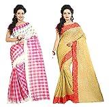 Shree Rajlaxmi Sarees Multicolour Cotton...