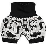 Lilakind Kurze Kinder-Hose Baby Shorts Buxe Sommerhose Zootiere Grau Schwarz Gr. 62/68- Made in Germany
