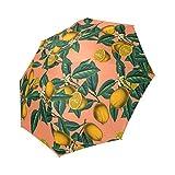 Umbrella Personalized Personalisierte Zitrone und Leaf Faltbar Regenschirm Regen Kompakte Reise Regenschirm