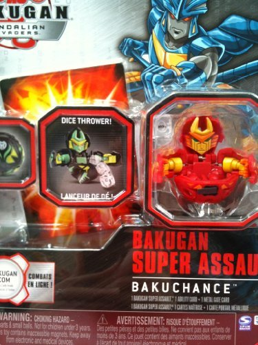Bakugan Gundalian Invaders Super Assault Red Pyrus Mystic Chancer Dice Thrower [New, in Package] by Bakugan