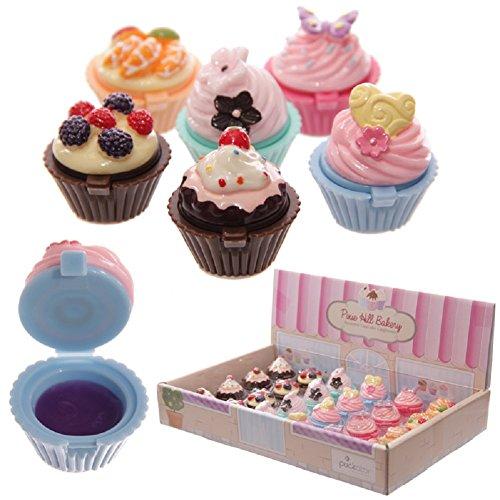Rhode Island Novelty Cupcake Lipgloss 12Stück Mädchen Geburtstag Partyzubehör