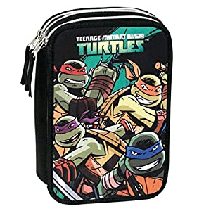 Turtles – Plumier Triple, Color Verde y Negro (Montichelvo Industrial 47513)