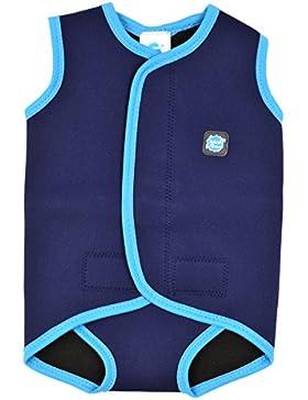 Splash About - Fascia avvolgente per neonato impermeabile, in neoprene, 18-30 mesi, blu navy/ turchese