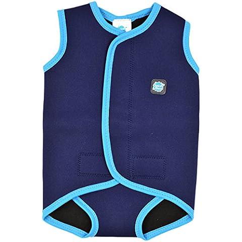 Splash About Baby Wrap - Traje de neopreno para niños, color azul marino / turquesa, 6-18 meses
