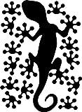 Gecko-Wandtattoo - wählbare Farbe - Aufkleber