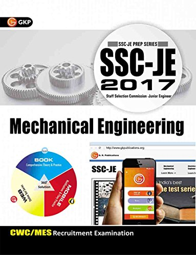 SSC - JE 2017 - Mechanical Engineering : CWC / MES Recruitment Examination Tenth Edition price comparison at Flipkart, Amazon, Crossword, Uread, Bookadda, Landmark, Homeshop18