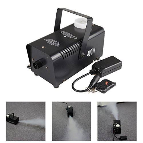 Mini Tragbar Fernbedienung 400W Nebelmaschine DJ Show Fogger Bühnentechnik W400 (NO LED) (Dj Nebelmaschine)