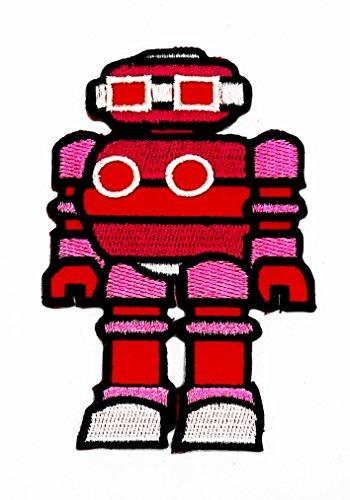 rabana Herr Roboter Computer Repair mit einem Lächeln Cartoon Kids Kinder Cute Animal Patch für Heimwerker-Applikation Eisen auf Patch T Shirt Patch Sew Iron on gesticktes Badge Schild (Für Kinder Kostüm Mr T)