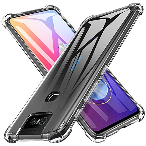iBetter Slim Thin Protective for ASUS Zenfone 6 ZS630KL Cover, Soft TPU, Shockproof Soft Transparent Silicone Case, for ASUS Zenfone 6 ZS630KL Smartphone.Transparent