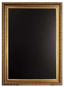 Securit Tableau noir avec cadre doré 65 x 85 cm