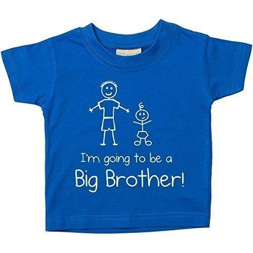 I'monate Gehe Werdende a Großer Bruder Blau T-shirt Baby Kleinkind Kinder Verfügbar in Größen von 0-6 Monate Neu Baby Bruder Geschenk – Blau, 18-24 Months