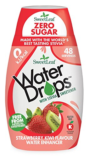 SweetLeaf gotas de agua con Stevia Sweetener – fresa y kiwi.