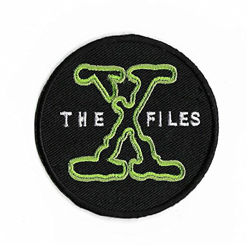 Die X-Files Patch Nähen oder Bügeln (8 cm) bestickt Badge xfiles Retro Souvenir DIY Kostüm X-Files Poster Alien I Want To Believe ET (Dana Scully Kostüm)