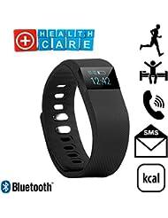 Pulsera SmartBand para deporte, Bluetooth SmartWatch, no Fitbit fitness IOS Android, negro