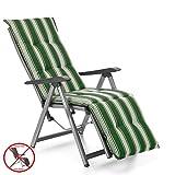 Auflagen für Relax Liegestuhl Rio 20581-200 in grün-weiß gestreift (ohne Relax)