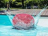 Soma Pouf d'extérieur 100% imperméable avec Effet Gros-Tricot Rose 55 x 37 x 55 cm