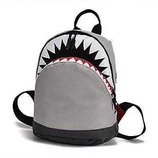 Mochila Escolar Niños Unisexo con Dseño Animal de Dibujos Animados, Backpack para Niñas de 3 a 10 años de Edad, Sencillo Vida, 3D Cartoon Shark