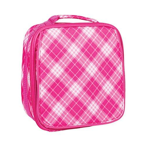 Wasserabweisend Reißverschluss Isolierte Soft-Lunch Kühltasche 11 x 9 Pink Preppy Plaid Hot Pink Plaid Design