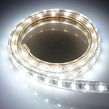 Idealeben 230V 1m Tira LED ,SMD 5050,Resistente al Agua IP65 Blanca Fía[Eficiencia energética A++]