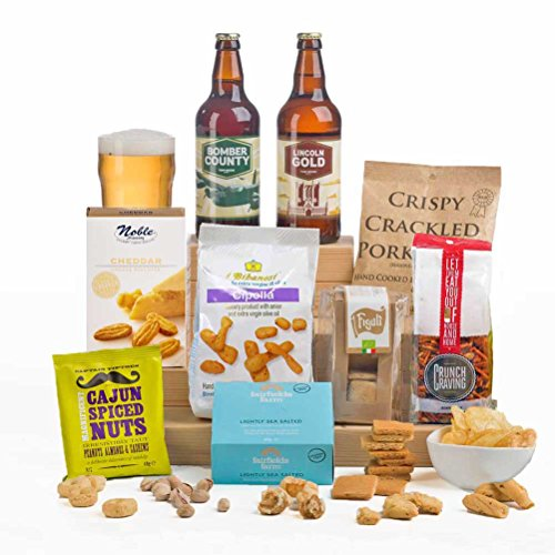 Craft Beer & Bar Snacks Hamper Gift Box - Gift Idea for Him