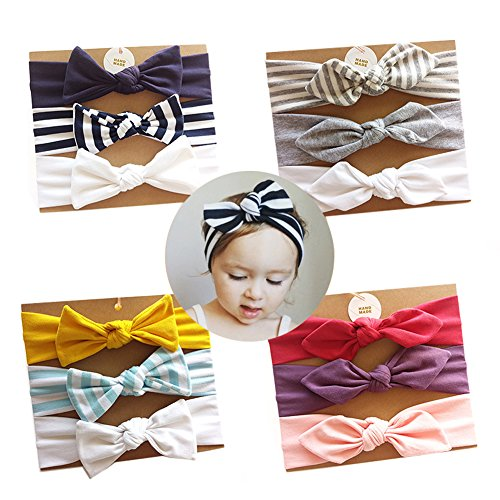 Vellette Baby Headbands Turban Knotted, Girl's Hairbands For Newborn,Toddler and Childrens,Birthday Present,Girl Gift