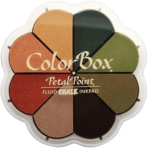 ColorBox fluido de otoño Pastel Tiza pétalos punto Opción en 8colores almohadilla de tinta, multicolor