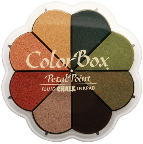 Colorbox Herbst Pastells Fluid Kreide Petal Point Option Stempelkissen in 8Farben, mehrfarbig