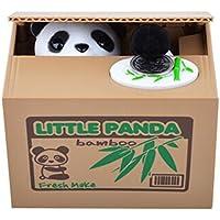 IIOOII Hucha Alcancía Panda Roba Moneda Centavo Ahorro De Dinero