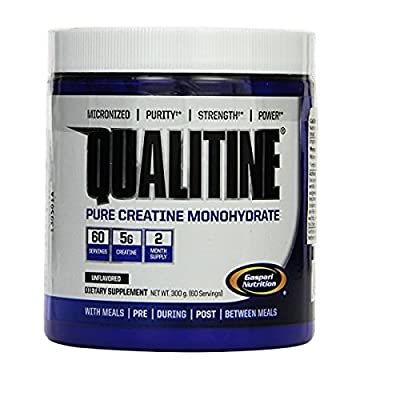 Gaspari Nutrition Qualitine 300 g Creatine Monohydrate Muscle Size and Strength Powder by Gaspari Nutrition