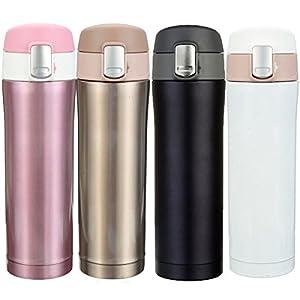 CAMTOA Bottiglia Acciaio Inox, 500ML Bottiglia di Acqua Termica Acciaio Inox,Tazza da Viaggio/Caffè,Senza BPA,Doppia… 21 spesavip