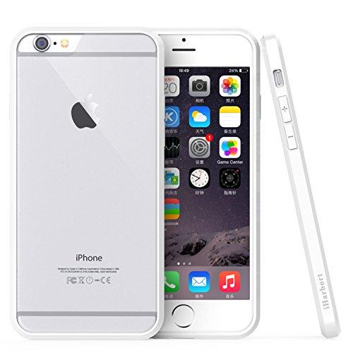 iPhone 6S Custodia - iHarbort® protettiva iPhone 6 6S il Custodia caso della copertura del respingente con assorbimento degli urti Bumper e Anti-Graffi Cancella pannello posteriore Con la protezione d telaio bianco