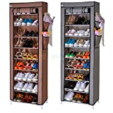 #3: Sterling Portable 10-Layers Fabric 9-Grid Multi-Utility Shoe Rack Organizer (160 cm x 60 cm x 30 cm) Color as per Availability