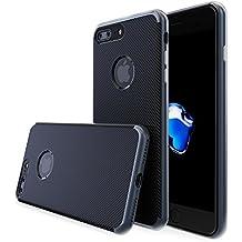 Funda iPhone 7 PLUS Carbono Mobilyos® [ Neo Carbon ] [ Gris Oscuro ] Carcasa iPhone 7 PLUS Antichoque de TPU con Contorno de Policarbonato y Trasera de Carbono Imitación para iPhone 7 PLUS (2016)