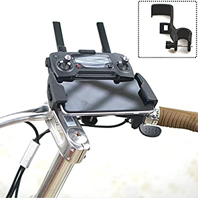 Fascinated Drone Mavic pro Spark Bike Mount Holder Transmitter Bracket & Phone Clip for Remote Controller by Fascinated Drone