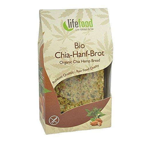 lifefood Chia-Hanf-Brot, 2er Pack (2 x 90 g) -