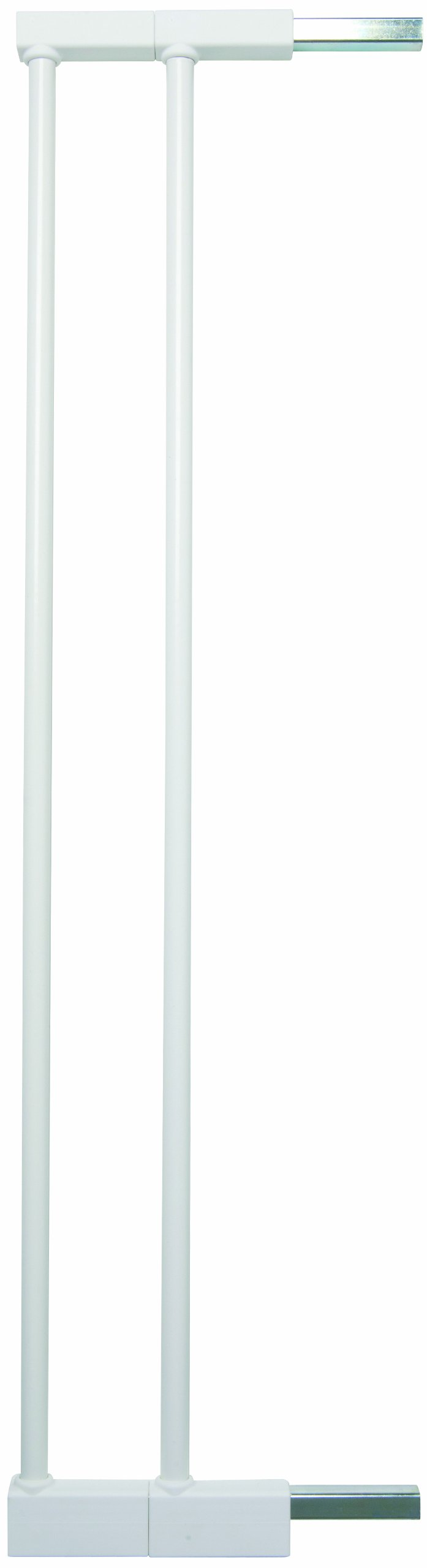 Baby Dan Extend A Gate 58014-5400-10-85 2 Extensions for Premier, Pressure Fit, Danamic and Two Way Autoclose Safety Gates 2 x 7 cm White Baby Dan Verlängerungen für druckmontierte Schutzgitter 2 bar extension set Made of powder coated metal Made in Denmark 2