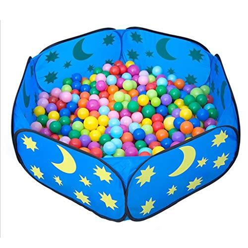 (ZSJRL Spiel Zaun Boy Ball Pit Kinderspiel Zelt Meerwasser Pool Indoor Outdoor Kind Sicherheit Spiel Center Yard Blue)