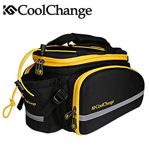 bolsa 35 L capacidad bicicleta bolsa de asiento trasero con resistente al agua de lluvia, correa para el hombro y ribetes para ciclismo viaje