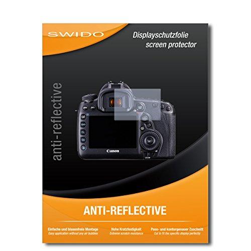 SWIDO Schutzfolie für Canon EOS 5D Mark IV [2 Stück] Anti-Reflex MATT Entspiegelnd, Hoher Härtegrad, Schutz vor Kratzer/Displayschutz, Displayschutzfolie, Panzerglas-Folie