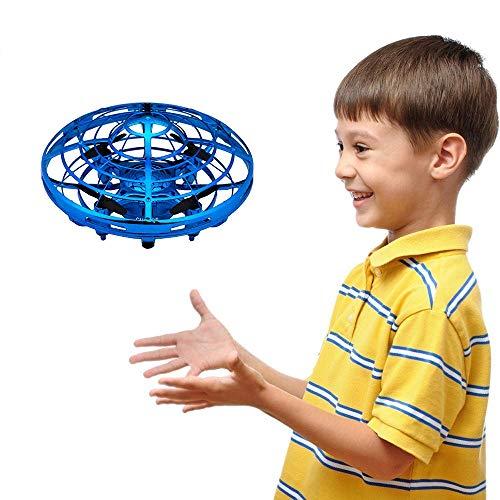 GZMY Spielzeug für 3-12 Jahre Alte Jungen, Handbetriebene Hubschrauber Fliegen-Kugel Drohnen für Kinder oder Erwachsene Geschenke für 3-12 Jahre Alte Jungen Mädchen Teen Geburtstagsgeschenk Blau