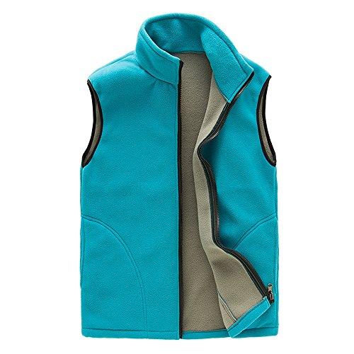 Lanbaosi women's hiver chaud extérieur de la tenue de laine casquette active gilet slim Acid Blue