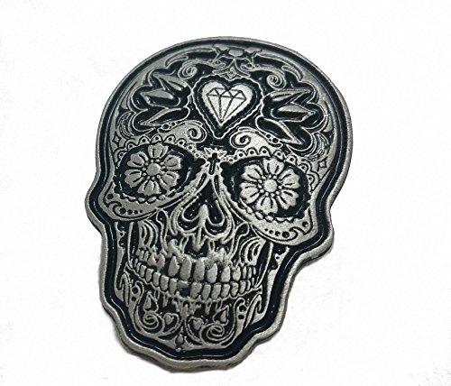 Tag der Toten Mexico Día de los Muertos Sugar Skull Anstecker Pin Badge ()